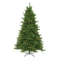 6.5 ft. x 48 in. - Camdon Fir - 1270 Classic Tips - 600 Multi-Color Incandescent Mini Lights - Vickerman Artificial Christmas Tree
