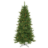 6.5 ft. x 42 in. - Camdon Fir - 1078 Classic Tips - 550 Multi-Color Incandescent Mini Lights - Vickerman Artificial Christmas Tree