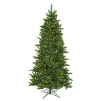 6.5 ft. x 42 in. - Camdon Fir - 1078 Classic Tips - 550 Clear Incandescent Mini Lights - Vickerman Artificial Christmas Tree