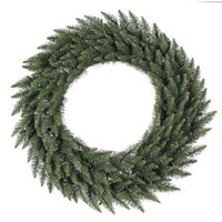 3.5 ft. Christmas Wreath - Classic PVC Needles - Camdon Fir - Unlit  - Vickerman A861042