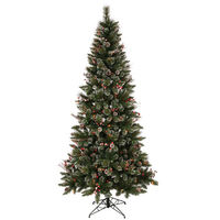 9 ft. x 51 in. - Snow Tip Pine/Berry - 1648 Classic Tips - 650 Multi-Color Incandescent Mini Lights - Vickerman Artificial Christmas Tree