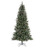 7 ft. x 42 in. - Snow Tip Pine/Berry - 744 Classic Tips - Unlit - Vickerman Artificial Christmas Tree