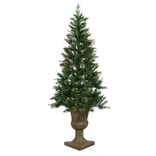 7.5 ft. Potted Oneco Half Artificial Christmas Tree Image