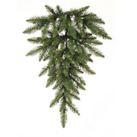 2.5 ft. Christmas Teardrop - Classic PVC Needles - Camdon Fir - Prelit with Clear Mini Lights - Vickerman A861008