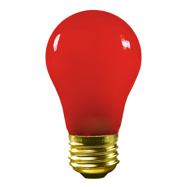 15 Watt - Opaque Red - A15 Image