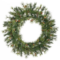 3 ft. Christmas Wreath - Classic PVC Needles - Mixed Country Pine - Unlit - Vickerman A801836