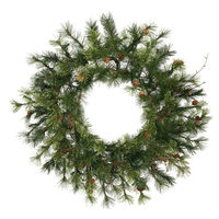 2.5 ft. Christmas Wreath - Classic Needles - Mixed Country Pine - Unlit  - Vickerman A801830