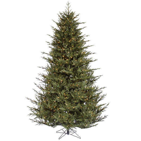 String Lights On Artificial Christmas Tree : 7.5 ft.x63 in. - Itasca Frasier - Pre-Lit