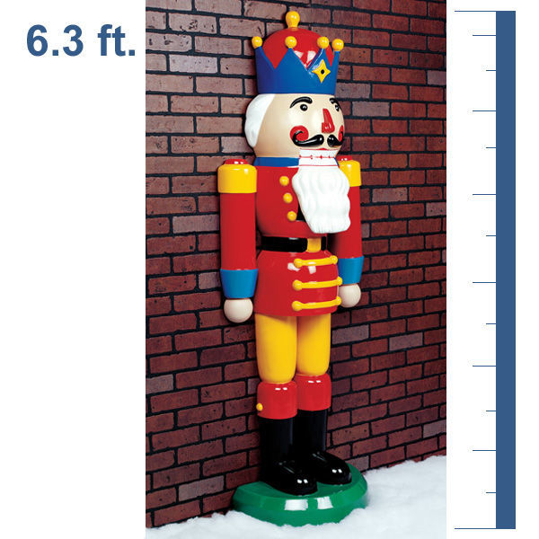 half nutcracker image - Life Size Nutcracker Outdoor Christmas Decorations