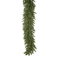 9 ft. Christmas Garland - Classic PVC Needles - Camdon Fir - Prelit with Clear Mini Lights - Vickerman A861124