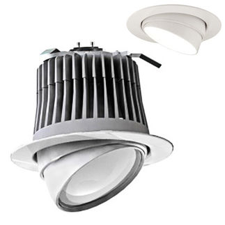 Cree LE6C-GU24 - GU24 Base - 500 Lumens - 12 Watt - LED - Halogen White - 92 CRI - Dimmable - Adjustable - Fits 6 in. Can Fixtures