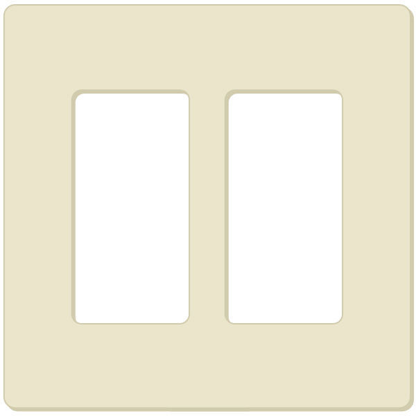 Lutron CW-2 - Wallplate - Light Almond Image