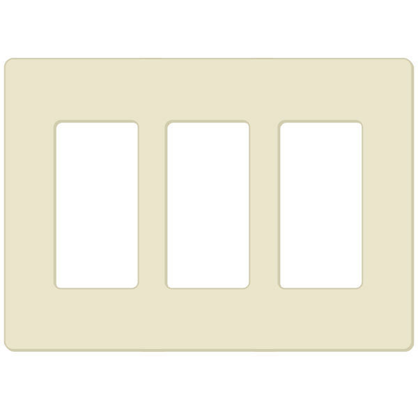 Lutron CW-3 - Wallplate - Light Almond Image