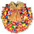(150) Bulbs - Multi-Color Shotgun Shell Wreath Thumbnail