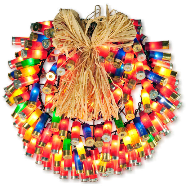 (150) Bulbs - Multi-Color Shotgun Shell Wreath Image
