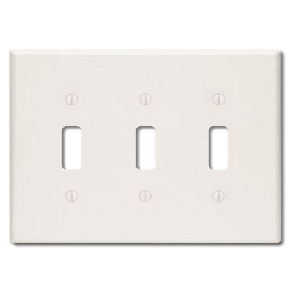 Toggle Wall Plate - Light Almond - 3 Gang Image