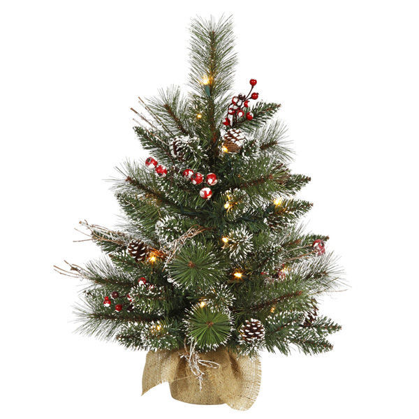 2 ft. x 16 in. Frosted Christmas Tree Image