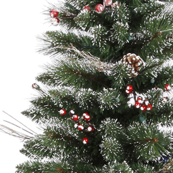 9 Ft X 51 In Snow Tip Pine Berry Vickerman - Artificial Christmas Tree 9 Ft