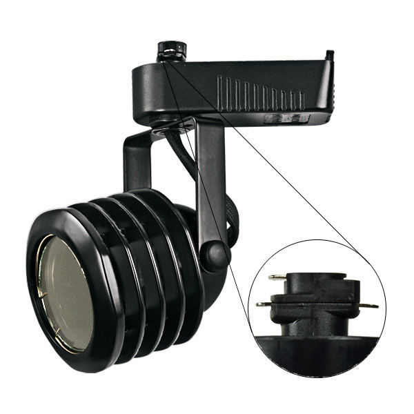 Nora NTL-212B - Multi-Stepped Low Voltage Track Fixture - Black Image