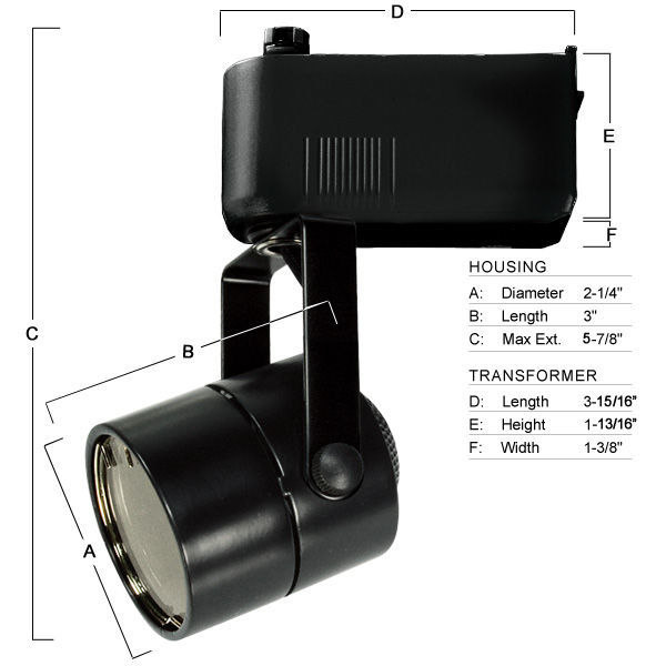 Nora NTL-203/75B - Cylinder Low Voltage Track Fixture - Black Image