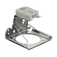 GX5.3 MR16 Socket - 650 Watt - Mounting Bracket with Circular Frame and Lamp Ejector - PLT QLV-1