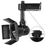 Nora NTL-208B - Barndoor Low Voltage Track Fixture - Black Image