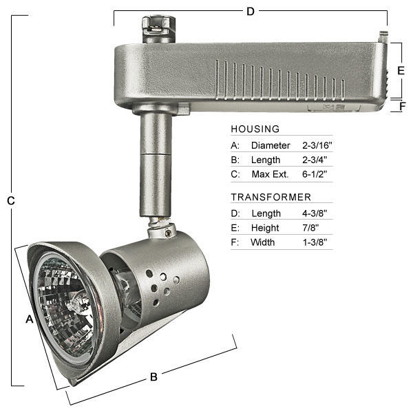 Nora NTL-318S - European Style Italia Low Voltage Track Fixture - Silver Image
