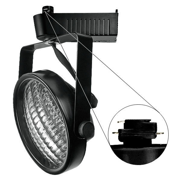 Nora NTL-220B - Gimbal Ring Low Voltage Track Fixture - Black Image