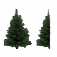 2 ft. - Douglas Fir - 95 Classic Tips - 50 Clear Incandescent Mini Lights - Vickerman Artificial Half Wall Christmas Tree