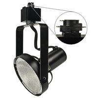 Black - Gimbal Ring Track Fixture - Uses Medium Based Bulbs R30/PAR30 or Smaller - Halo Track Compatible - 120 Volt - Nora NTH-147B