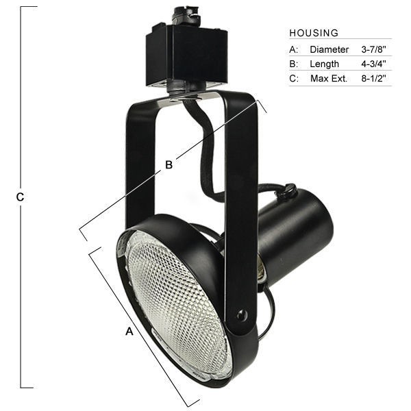 Nora NTH-147B - Gimbal Ring Track Fixture - Black Image