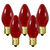 25 Pack - C7 - Transparent Red - Double Dipped - 7 Watt