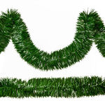 Pine Green Tinsel Garland Image