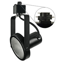 Black - Gimbal Ring Track Fixture - Operates 75W PAR30 - Halo Track Compatible - 120 Volt - Nora NTH-107B