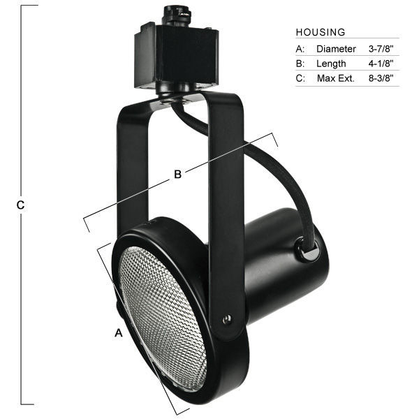 Nora NTH-107B - Gimbal Ring Track Fixture - Black Image