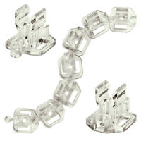 (25 Pack) 3/8 or 1/2 in. - Linked or Un-Linked Clips - For Mounting Rope Lights - FlexTec 0904040304