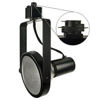 Black - Gimbal Ring Track Fixture - Uses Medium Based Bulbs PAR38 or Smaller - Halo Track Compatible - 120 Volt - Nora NTH-108B