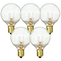 5 Watt - Miniature G12 Globes - Diameter 1.5 in. - 4,000 Life Hours - Candelabra Base - 130 Volt - 25 Pack