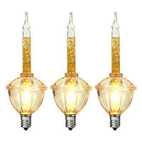 vickerman v490775 gold glitter bubble light replacement bulbs 3 pack