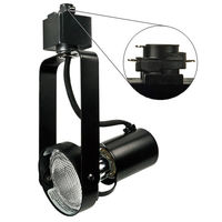 Black - Gimbal Ring Track Fixture - Uses Medium Based Bulbs R20/PAR20 or Smaller - Halo Track Compatible - 120 Volt - Nora NTH-146B