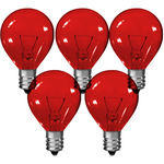 5 Watt - G9 Globe - 24 Volt - Transparent Red Image