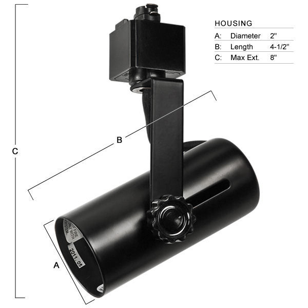 Nora NTH-109B - Universal Track Fixture - Black Image