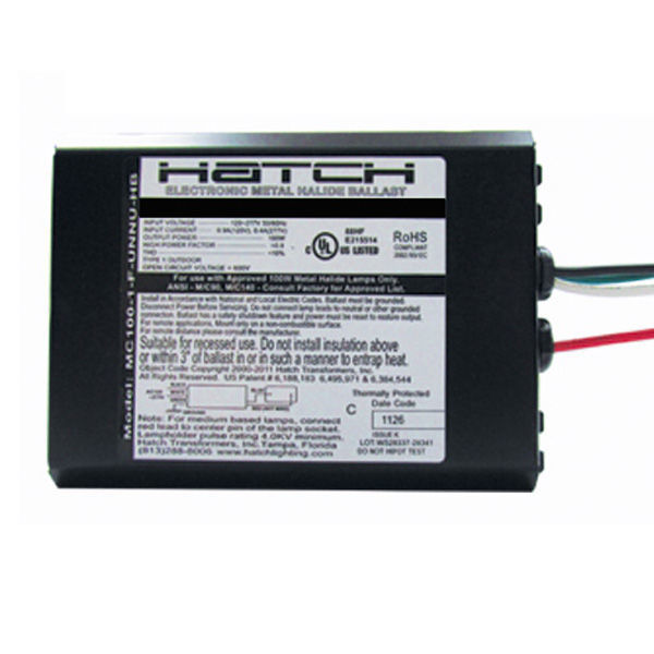 Hatch MC150-1-F-277P - 150 Watt - Electronic Metal Halide Ballast Image