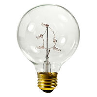 5 Watt - G25 Globe Incandescent Light Bulb - Clear - Medium Brass Base - 130 Volt - Bulbrite 716330