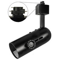Black - Universal Track Fixture - Uses Medium Based Bulbs PAR38/BR40 or Smaller - Halo Track Compatible - 120 Volt - PLT PTH119B
