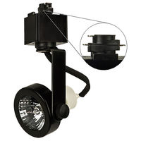 Black - Gimbal Ring Track Fixture - Operates 50W MR16 GU10 Base - Halo Track Compatible - 120 Volt - Nora NTH-697B