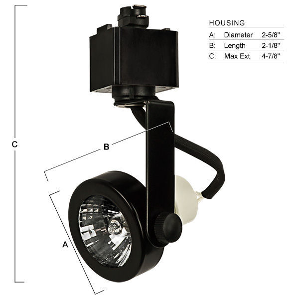 Nora NTH-697B - Gimbal Ring Track Fixture - Black Image