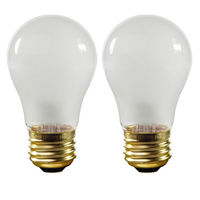 15 Watt - 100 Lumens - A15 - Frosted - Appliance Bulb - 2 Pack - Medium Base