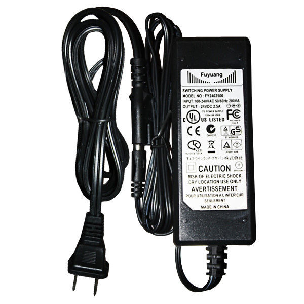 60 Watt Power Supply for 24 Volt LED Tape Light Image