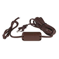 Lamp Dimmer Cord - Brown - 9.6 ft. - 18 AWG - 200 Watt. Max - PLT D2881